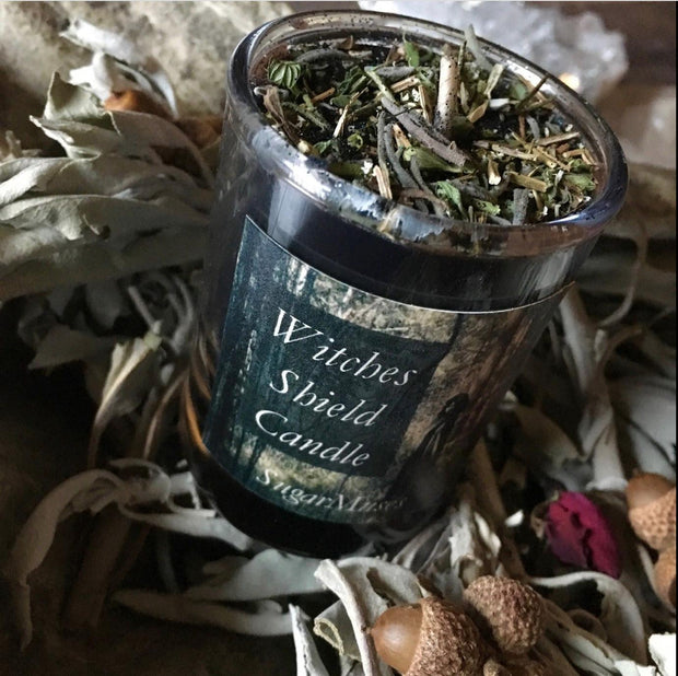 Witches Shield Candle, Candles - SugarMuses