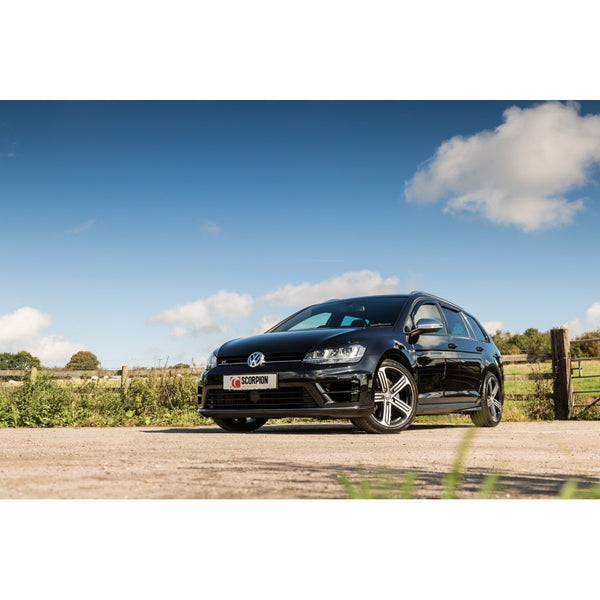 Scorpion Cat back exhaust system- GOLF (ESTATE) R MK7 + 7.5