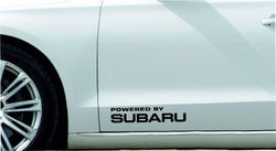 'Powered by Subaru' stickers