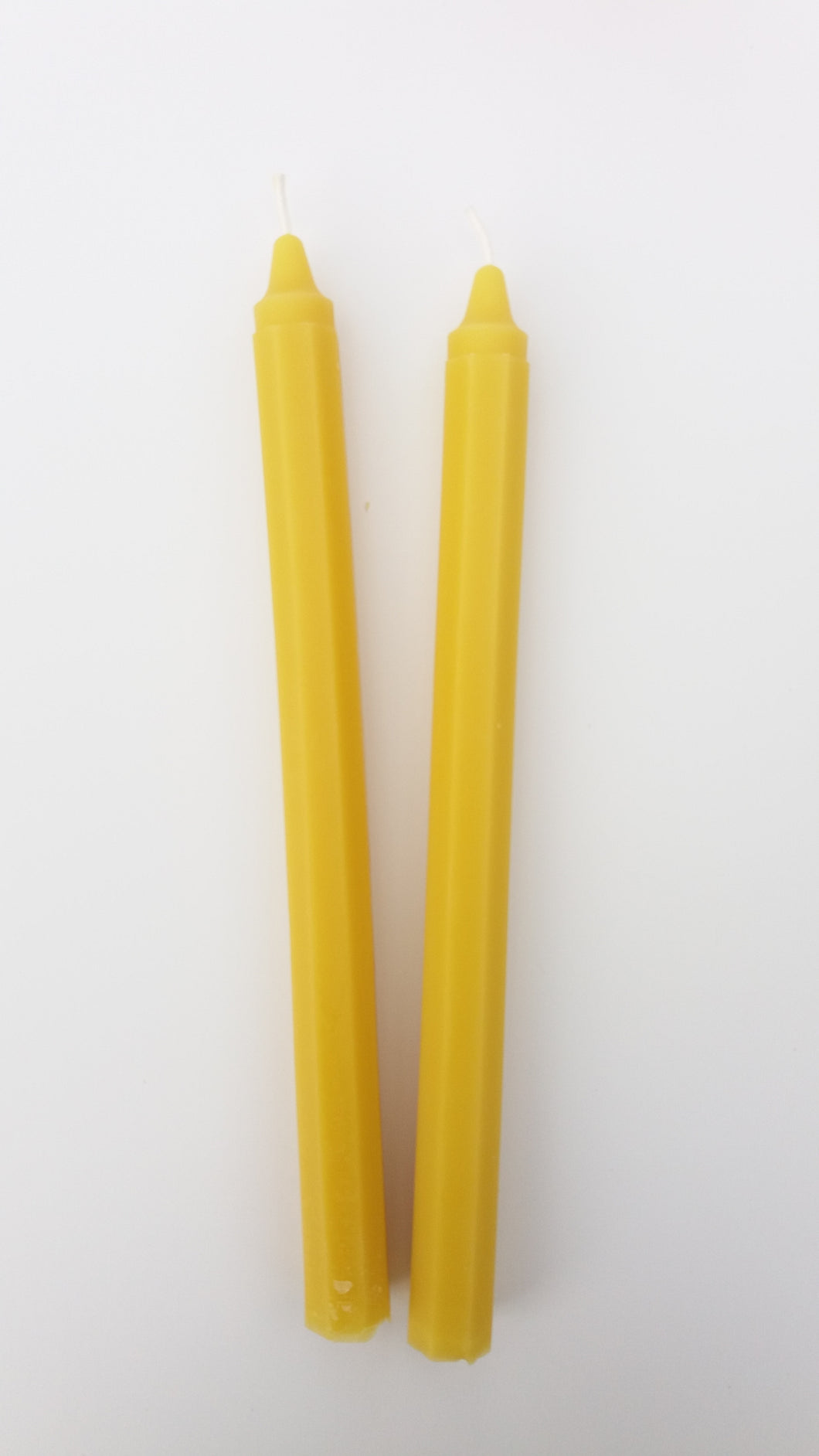 Octagon Taper Candles 10 inch 2 pack