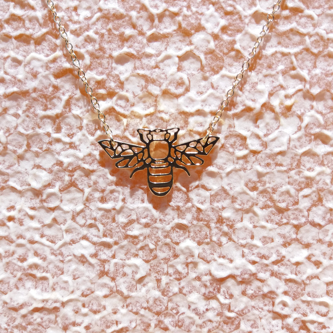 GOLDEN BEE NECKLACE