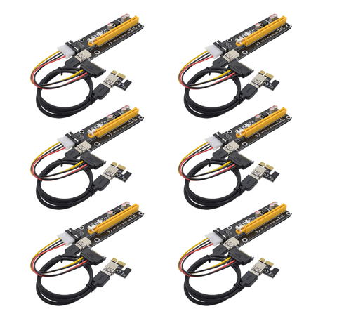 PCIe Riser Card - VER006 MOLEX - 6 PACK - hashrate.co.za
