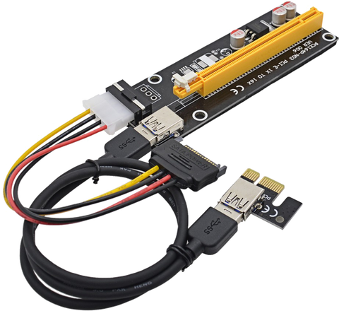PCIe Riser Card - VER006 MOLEX - hashrate.co.za