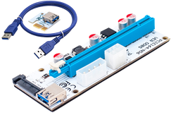 PCIe Riser Card - VER008S MOLEX, 6PIN, SATA - hashrate.co.za