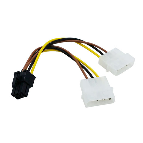 Dual Molex 4Pin To 6Pin Cable - hashrate.co.za