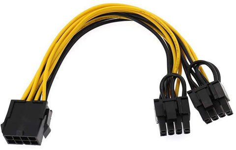 EPS CPU 8 Pin to Dual PCIE 8 (6+2) Pin Power Cable