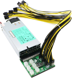 1200Watt Server Power Supply Kit for GPU Mining. 94% Platinum Efficiency - hashrate.co.za