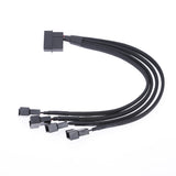 Molex to 4-Port 3Pin/4Pin Fan Splitter Power Cable - hashrate.co.za