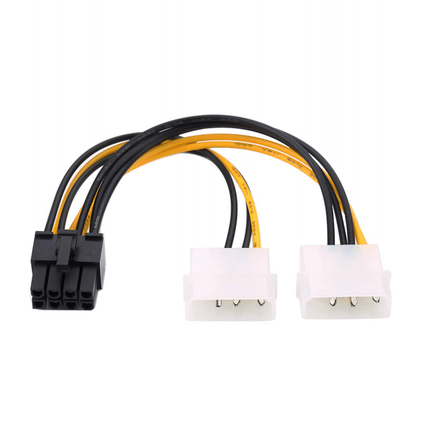 Dual Molex 4Pin To 8Pin Cable - hashrate.co.za