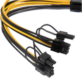 PCI-E 8pin to Dual 8pin Y-Splitter Extension Cable - hashrate.co.za