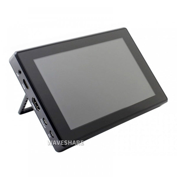 Waveshare 7inch Capacitive Touch Screen LCD (H) with Case, 1024×600, HDMI, IPS