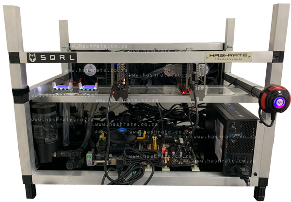 2 x SQRL BCU1525 Watercooled FPGA Rig - Ready To Mine - hashrate.co.za