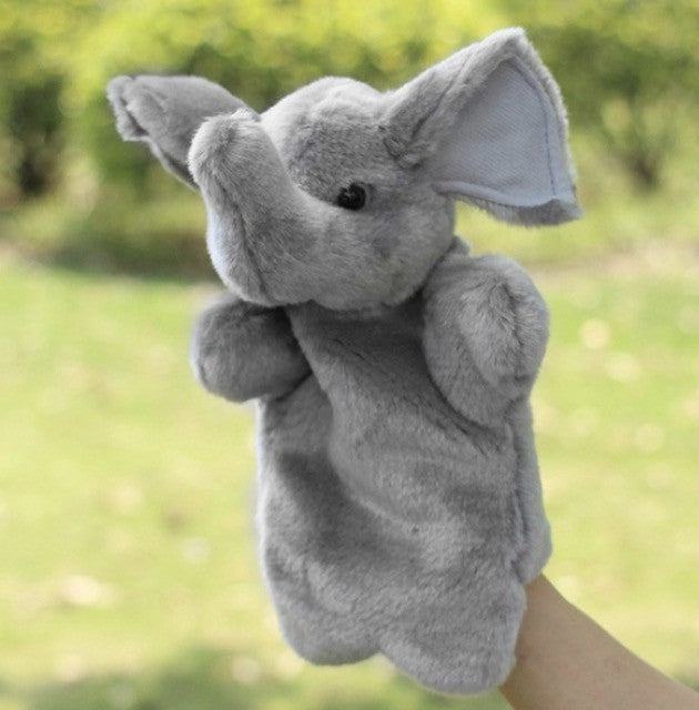 Elephant & Squirrel Hand Puppets (2pc Set)