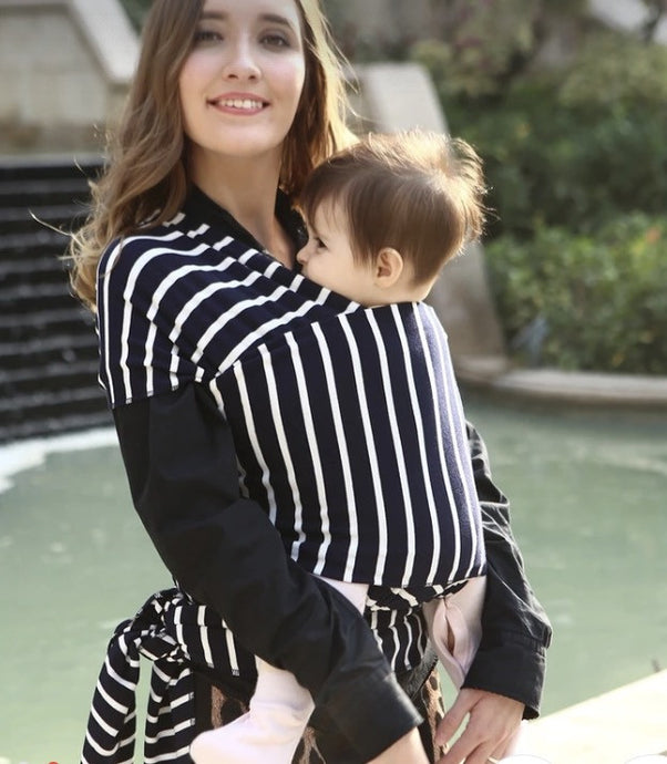Striped BabyWrap (Black & White / Ivory & Grey)