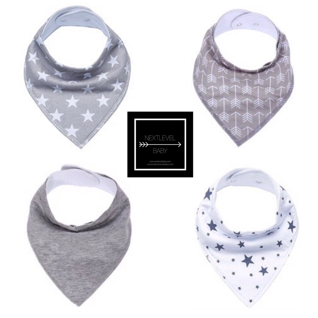 Bandana Bib Set (4pk) - BOYS
