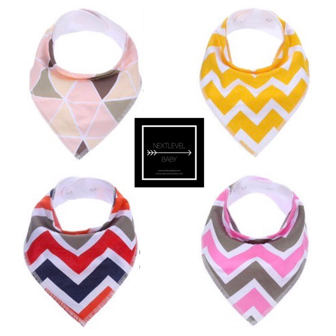 Bandana Bib Set (4pk) - GIRLS