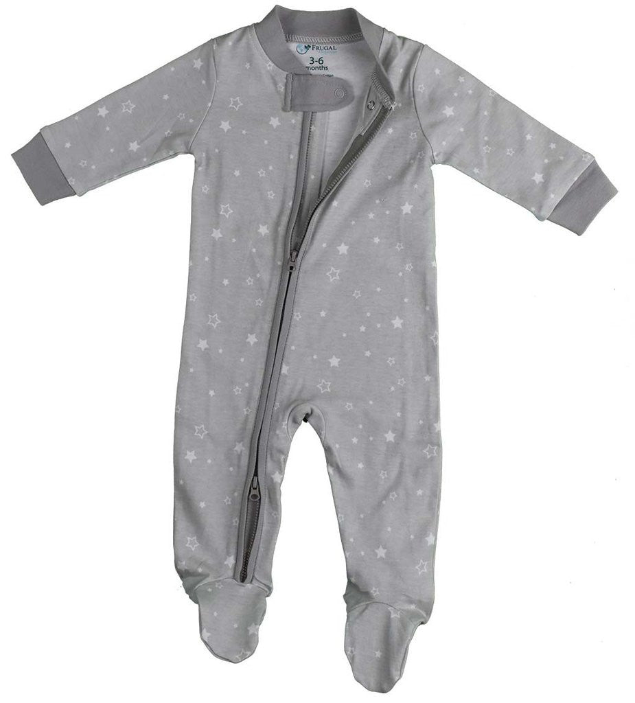 100% Organic Cotton Zipper BabyGrow- UNISEX