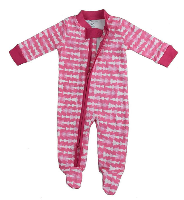 100% Organic Cotton Zipper BabyGrow- GIRLS