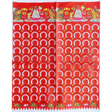 Asian Ceremonial Chinese Tissue Joss Paper - Long Red Faces, 10 Sheets