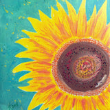 Original Artwork SUNFLOWER SHINE, 11 in x 14 in, Unique Art Oil Painting Matted and Ready to Frame by Artist Tristina Dietz Elmes