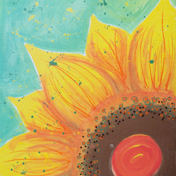 Original Artwork SUNFLOWER SHINE 3, 11 in x 14 in, Unique Art Oil Painting Matted and Ready to Frame by Artist Tristina Dietz Elmes
