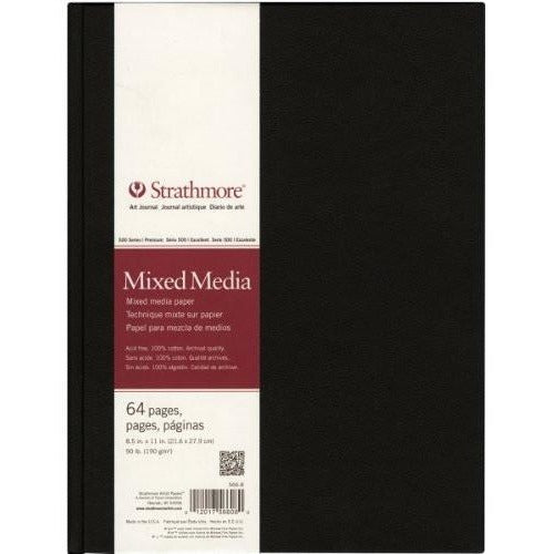 Strathmore Paper Mixed Media Art Journal Book, 8.5 by 11-Inch, 64 Pages