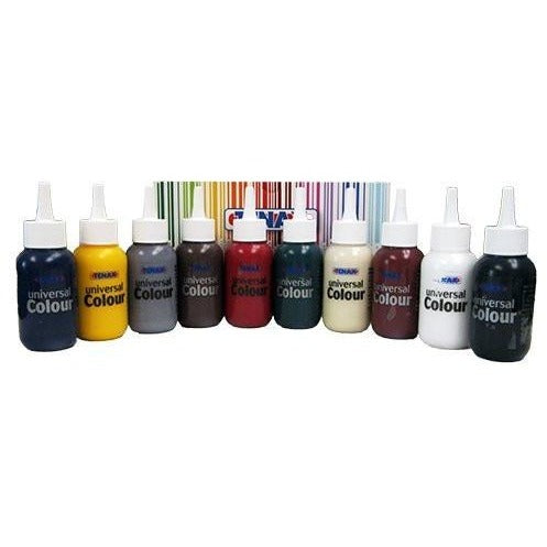 Tenax 10 Bottle Universal Coloring Kit for Resin and Acrylic Mastic, 2.5-oz per Bottle