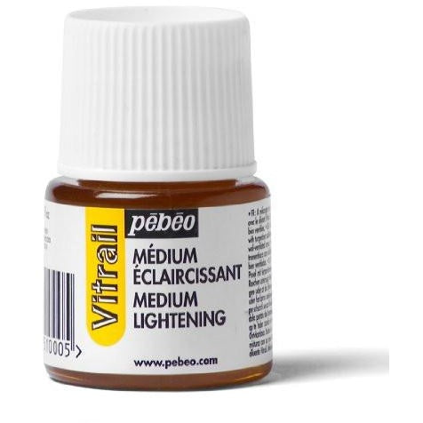 Pebeo Vitrail Stained Glass Effect Glass Paint, Lightening Medium 45 ml Bottle