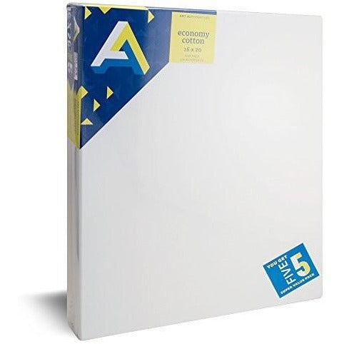 Art Alternatives Economy Artist White Canvas Super Value Pack - 16 x 20 inches - Pack of 5