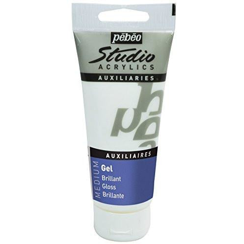 Pebeo Studio Acrylic Gloss Gel Medium, 100 ml tube