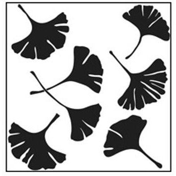 Stencil 6in x 6in Ginkgo Leaves