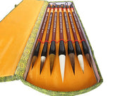 Chinese Calligraphy Gift Box Brush Set 7 Pcs Kanji Brushes