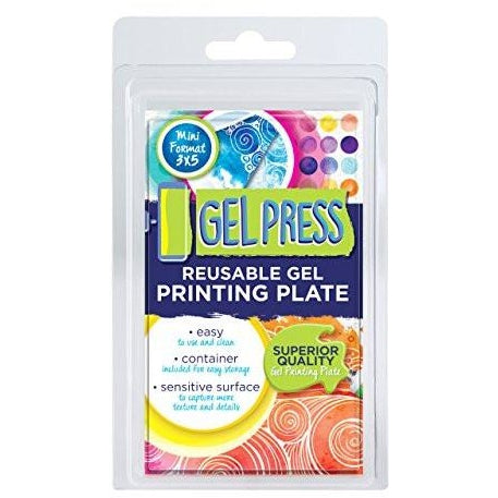 Gel Press Reusable Gel Printing Plate 3 x 5 Inch Rectangle