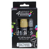 Pebeo 4Artist Marker Set, 3 x 8mm, Metal
