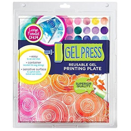 Gel Press Reusable Gel Printing Plate 12 x 14 Inch Rectangle