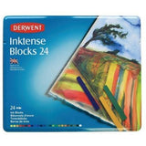 Derwent Drawing Supplies, Inktense, Ink Blocks, 4mm Core, Metal Tin, 24 Count