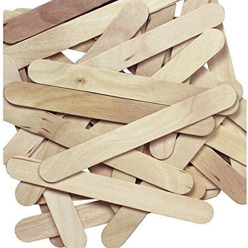 Pacon Jumbo Natural Wood Craft Sticks for Stirring Resin - 100 pieces