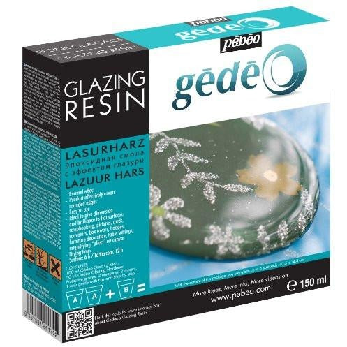 Pebeo Gedeo Glazing Resin Epoxy Doming 2 to 1, Great for Jewelry - Thick Viscosity - 150ml