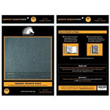 "Graphite Transfer Carbon Paper - 25 Sheets (9"" x 13"") - Black Tracing Paper for Wood, Paper, Canvas & Other Art Surfaces"