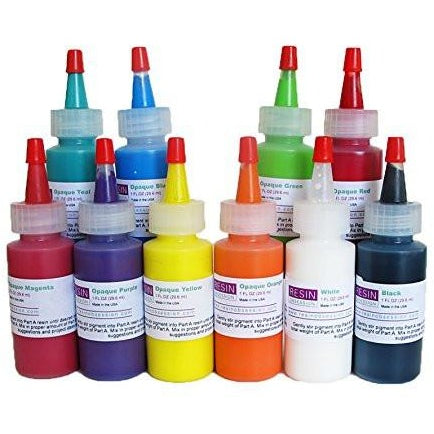 Resin Obsession color pigments opaque - complete set of ten colors