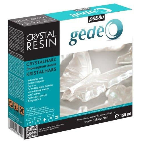Pebeo Gedeo Crystal Resin Epoxy Water-like 2 to 1, Great for Casting or Liquid Art Panel Painting - Thin Viscosity - 150ml