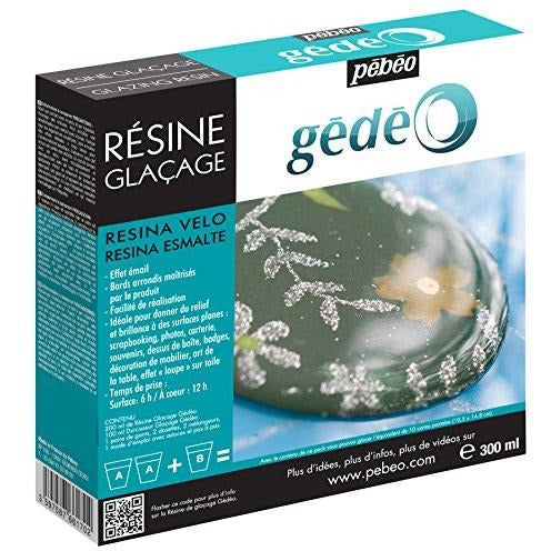 Pebeo Gedeo Glazing Resin Epoxy Doming 2 to 1, Great for Jewelry - Thick Viscosity - 300ml