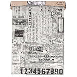 Tim Holtz Idea-ology Tissue Wrap Paper, Postale, 15 Feet x 12 Inches
