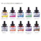 Ecoline Liquid Watercolor Dye Based Ink Set of 10 Assorted Color 30ml Bottles