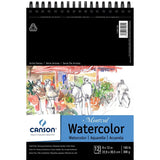 Canson Montval Watercolor Pad, Cold Press Acid Free French Paper, Top Wire Bound, 140 lb, 9 x 12 Inch, 12 Sheets