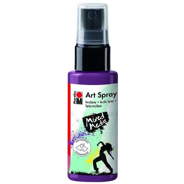 Marabu Mixed Media Acrylic Art Spray 50 ML Aubergine Maroon
