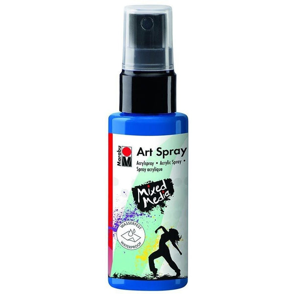 Marabu Mixed Media Acrylic Art Spray 50 ML Gentian Blue