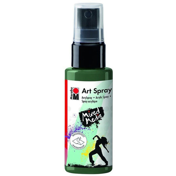Marabu Mixed Media Acrylic Art Spray 50 ML Khaki Green