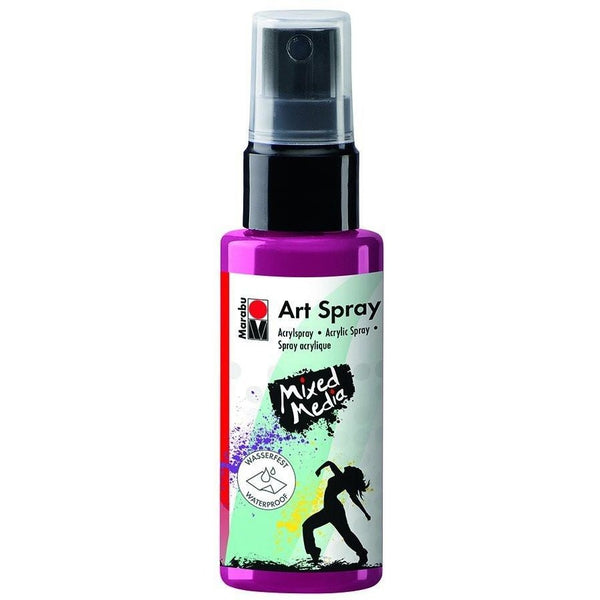 Marabu Mixed Media Acrylic Art Spray 50 ML Raspberry