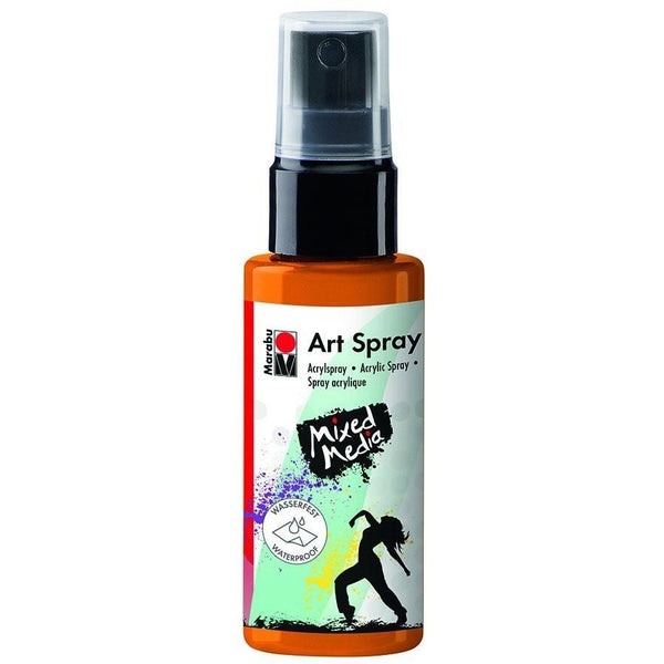 Marabu Mixed Media Acrylic Art Spray 50 ML Tangerine Orange